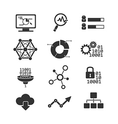 Data analytic icons vector image