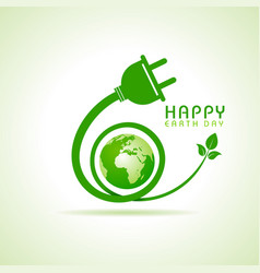 happy earth day greeting stock vector image