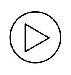 play button media menu vector image