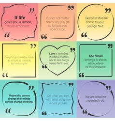 Set of citation text boxes frames and quotes vector