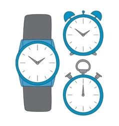 time set vector image vector image