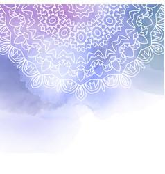 decorative madala design on a watercolour vector image vector image