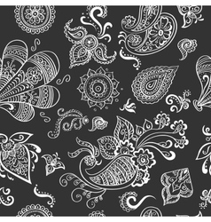 Indian vintage floral seamless vector image