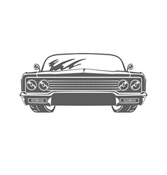 Retro car isolated on white background vector image