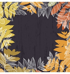 Autumn abstract frame design With empty space for vector image vector image