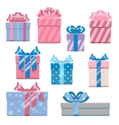 Gift boxes in pastel colors vector image vector image