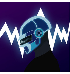 playlist dj on the lightning vector image