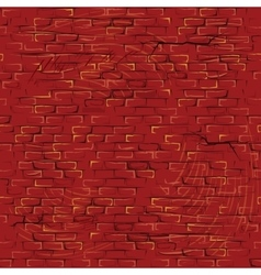 Seamless Cartoon Grunge Brickwall Pattern vector image
