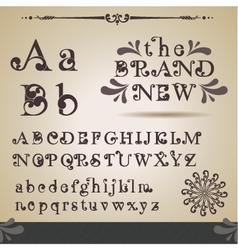Swirly alphabet vector