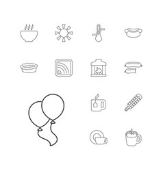 13 hot icons vector