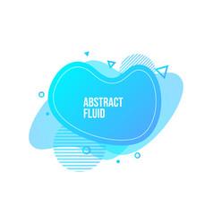 abstract liquid shape fluid design isolated vector image