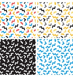 abstract seamless patterns in trendy pop art vector image