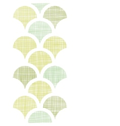 Abstract textile green fishscale vertical seamless vector image