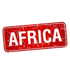 Africa red stamp isolated on white background vector
