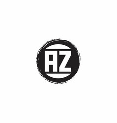 Az logo initial letter monogram with abstract vector