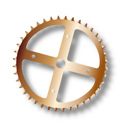 bicycle driving cog vector image
