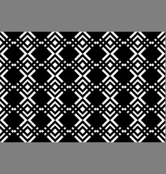 black geometric background vector image