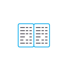 braille book thin line stroke icon braille vector image