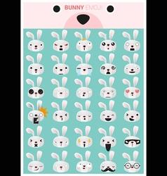Bunny emoji icons vector image