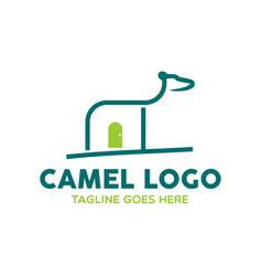 camel logo-20 vector image