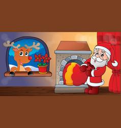 christmas indoor theme 9 vector image