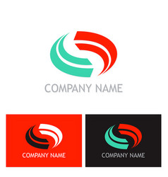 circle colored loop company logo vector image