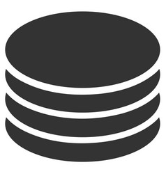 Coin stack flat icon vector