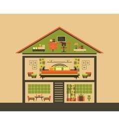 Cutaway House vector