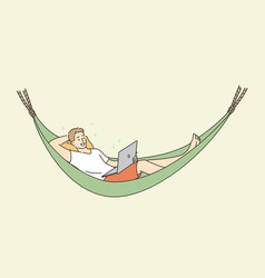 distant work freelance and rest concept vector image