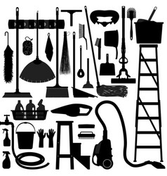 domestic household tool equipment a set of vector image
