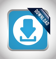 download button now vector image