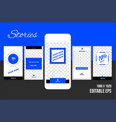 Editable social media stories vector