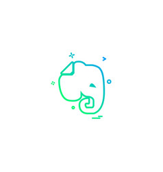 Evernote icon design vector