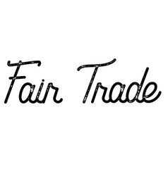 Fair trade stamp typ vector