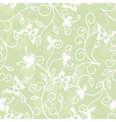 Floral pattern with butterflies vector