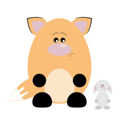 fox and rabbit sad vector image