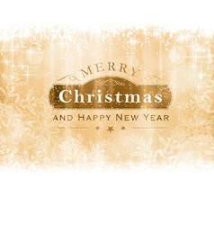 Golden Merry Christmas Greeting Card vector image