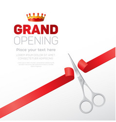 Grand opening template - modern vector