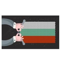 Hand made flag of Bulgaria vector image