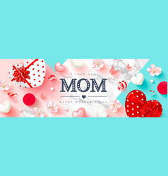 happy mothers day greeting card festive vector image