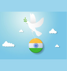 India independence day celebration with pigeon vector