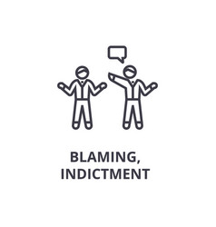 Indictment blaming thin line icon sign symbol vector