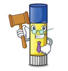 Judge cute cartoon on the glue stick vector