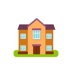Large Two Storey Suburban House Exterior Design vector