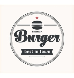Logo with hamburger vector