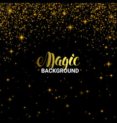 magic golden light effect shiny star burst vector image