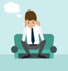man sits thinking vector image
