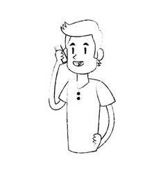 man talking on the phone icon image vector image
