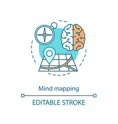 Mind mapping concept icon critical thinking vector
