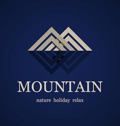 Mountain symbol design template vector